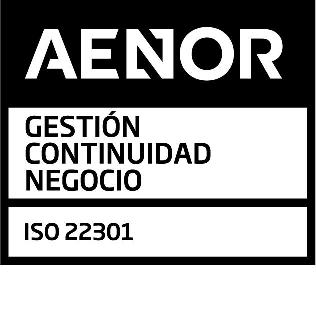 AENOR Mark for Business Continuity Management ISO 22301