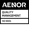AENOR Mark for Quality Management Systems Registered Company UNE-EN ISO 9001