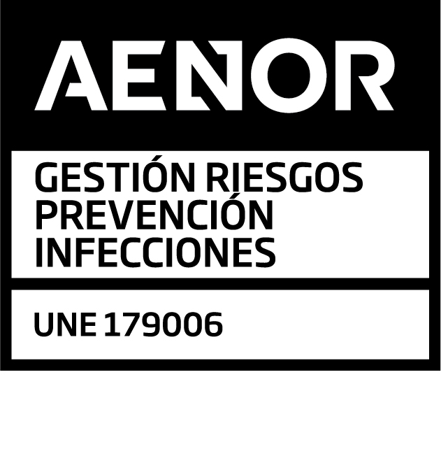 AENOR Certificate of UNE 179006 System for the surveillance, prevention and control of infections related to health care in hospitals