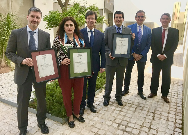 Marea receives a triple certification for quality, environment and occupational safety from AENOR