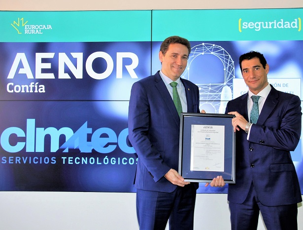 AENOR awards CLMTEC, of the Eurocaja Rural Group, the National Security Scheme certification