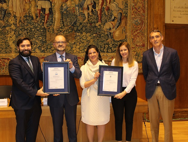 AENOR awards the Fundación Jiménez Díaz with double cybersecurity certification: the National Security Framework (ENS) and Information Security (ISO 27001)