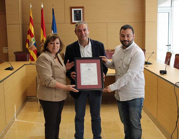 The Utebo City Council awarded the ENS certificate