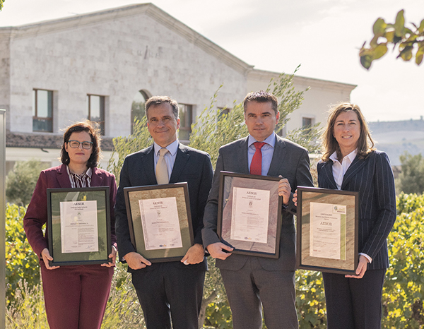Matarromera obtains four AENOR certificates