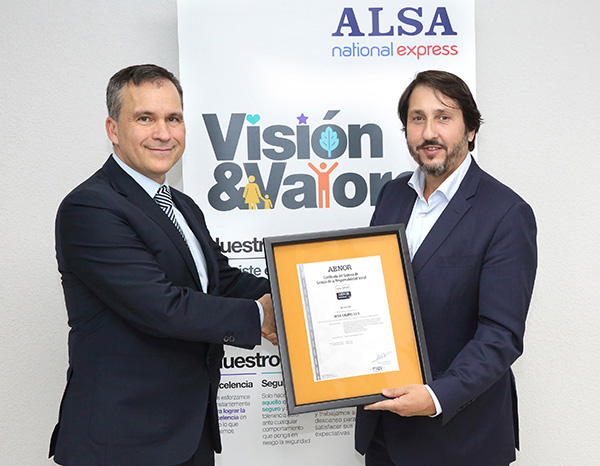 ALSA obtains the IQNet SR10 certificate in Social Responsibility from AENOR