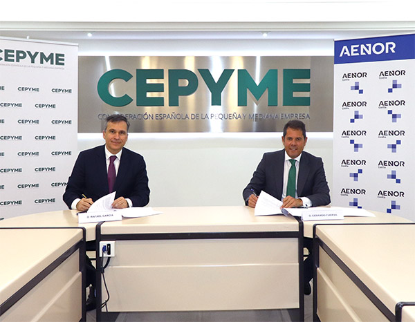 CEPYME and AENOR sign an agreement to promote Spanish SMEs